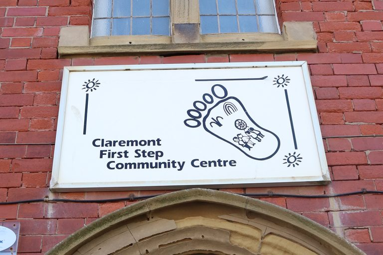 Claremont First Step Community Centre Sign